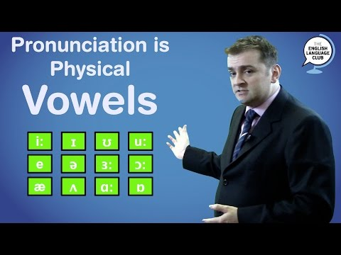 Pronunciation is Physical: Vowels